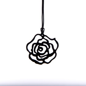 Small Black Rose Necklace (LOCKDOWN SALE $10.00 OFF)