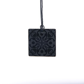 Small Black Etched Square Necklace ($45.00 NOW ONLY $15.00)