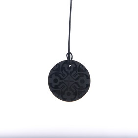 Small Black Etched Circle Necklace ($45.00 NOW ONLY $15.00)