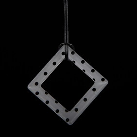 Large Frosted Polka Dot Square Necklace  ($65.00 NOW ONLY $30.00)